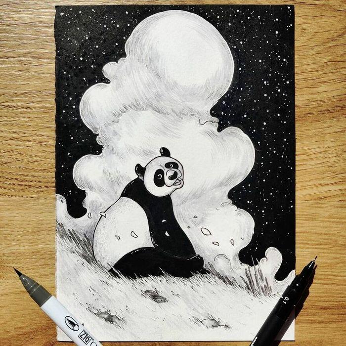 Ilustrador combina animais, pessoas e o céu noturno para criar arte mágica (26 fotos) 21