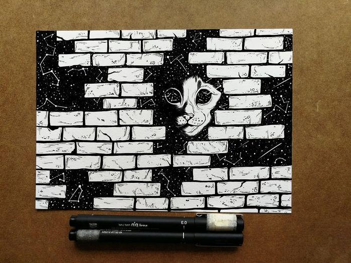 Ilustrador combina animais, pessoas e o céu noturno para criar arte mágica (26 fotos) 23