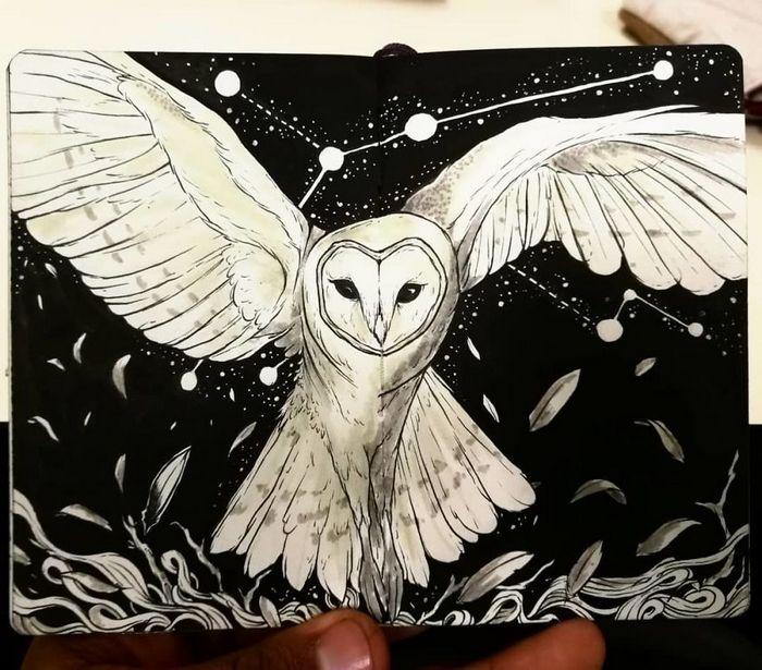 Ilustrador combina animais, pessoas e o céu noturno para criar arte mágica (26 fotos) 24