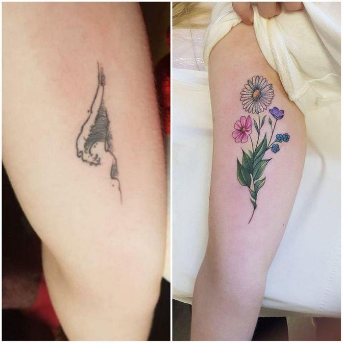 28 pessoas que decidiram dar uma segunda chance para suas antigas tatuagens 4
