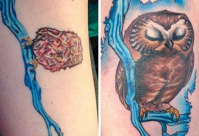 28 pessoas que decidiram dar uma segunda chance para suas antigas tatuagens 23