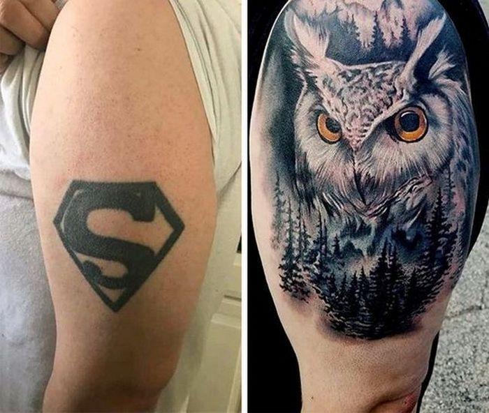 28 pessoas que decidiram dar uma segunda chance para suas antigas tatuagens 25
