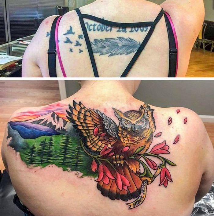 28 pessoas que decidiram dar uma segunda chance para suas antigas tatuagens 27