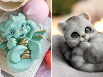 37 sabonetes artesanais com tema de animais, deste artista russo 45