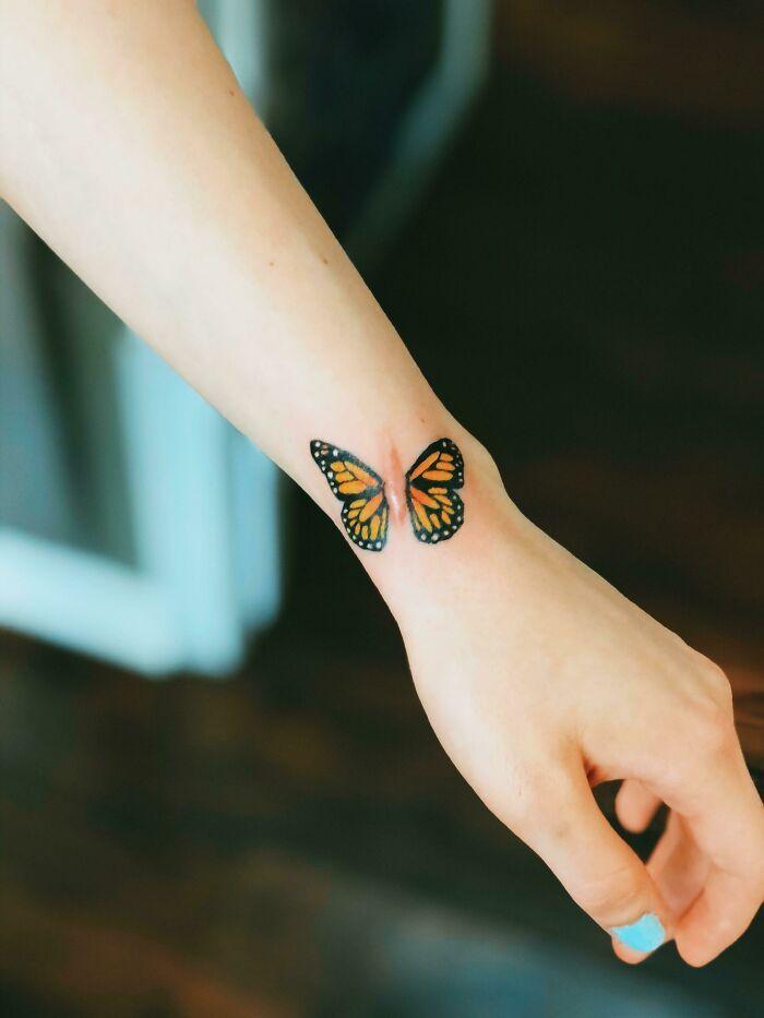 46 tatuagens incríveis que transformaram cicatrizes e marcas de nascença em obras de arte 5