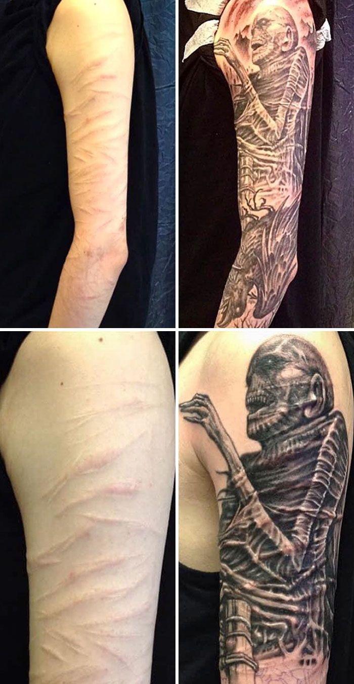 46 tatuagens incríveis que transformaram cicatrizes e marcas de nascença em obras de arte 43