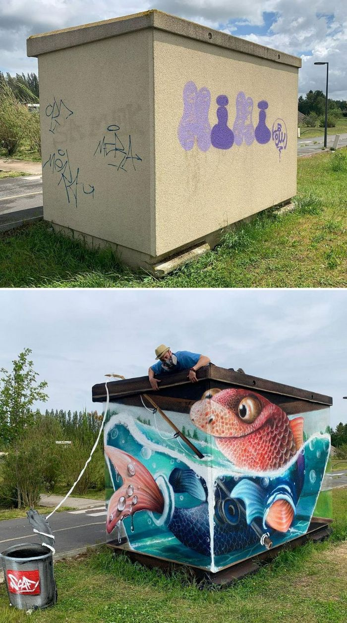 Artista de rua francês pinta graffiti de criaturas em 3D e não é para os fracos de coração (43 fotos) 4