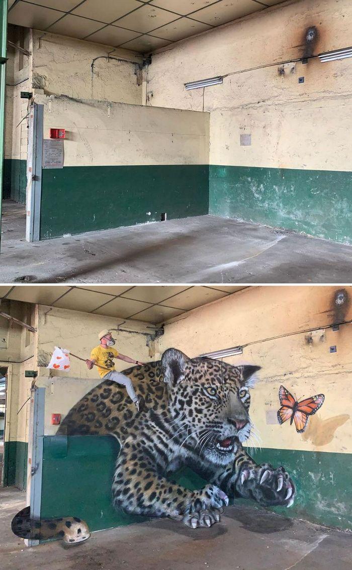 Artista de rua francês pinta graffiti de criaturas em 3D e não é para os fracos de coração (43 fotos) 6