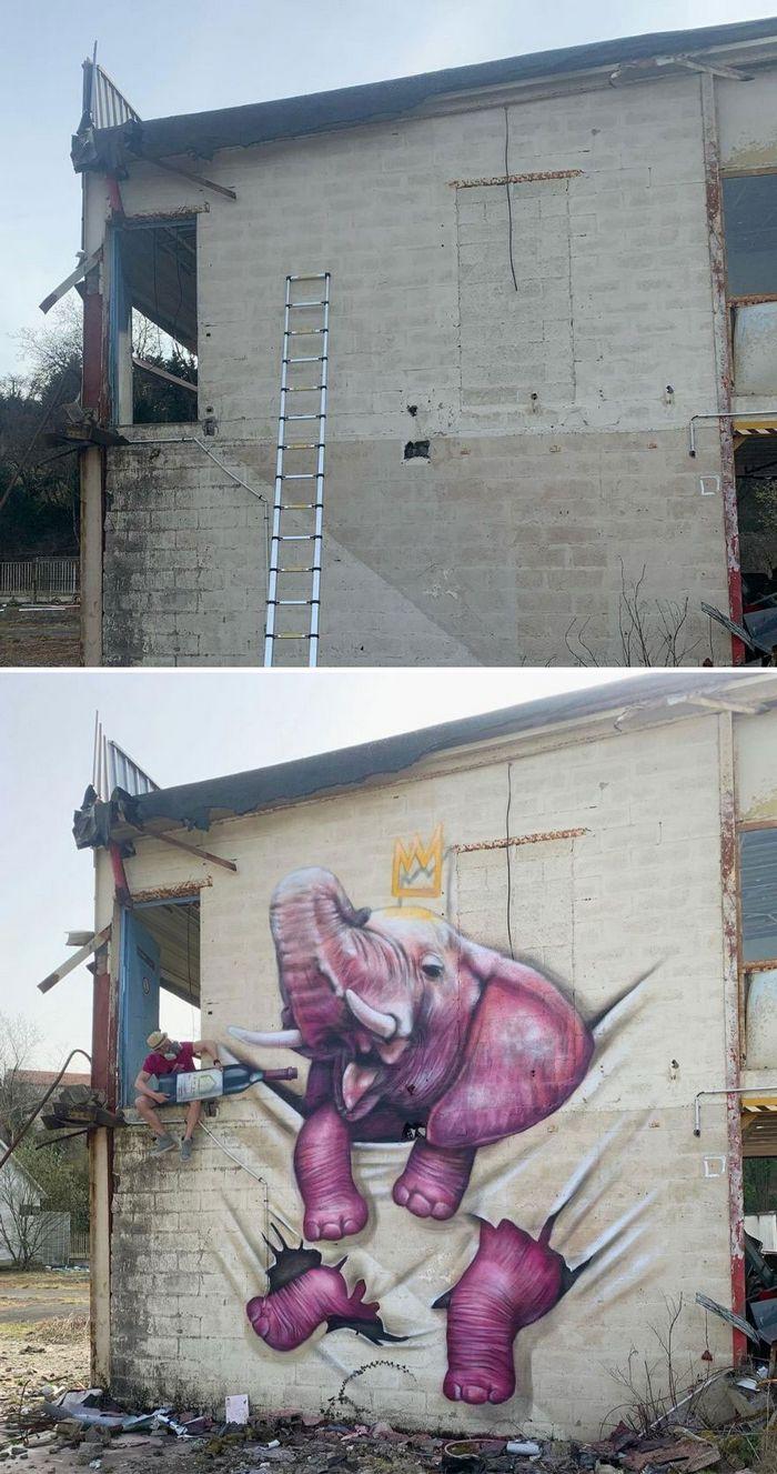 Artista de rua francês pinta graffiti de criaturas em 3D e não é para os fracos de coração (43 fotos) 8
