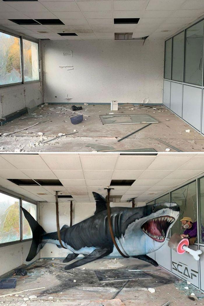Artista de rua francês pinta graffiti de criaturas em 3D e não é para os fracos de coração (43 fotos) 9