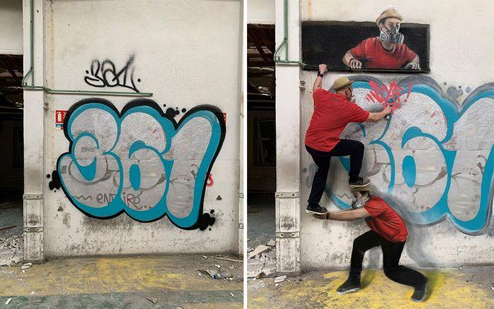 Artista de rua francês pinta graffiti de criaturas em 3D e não é para os fracos de coração (43 fotos) 10