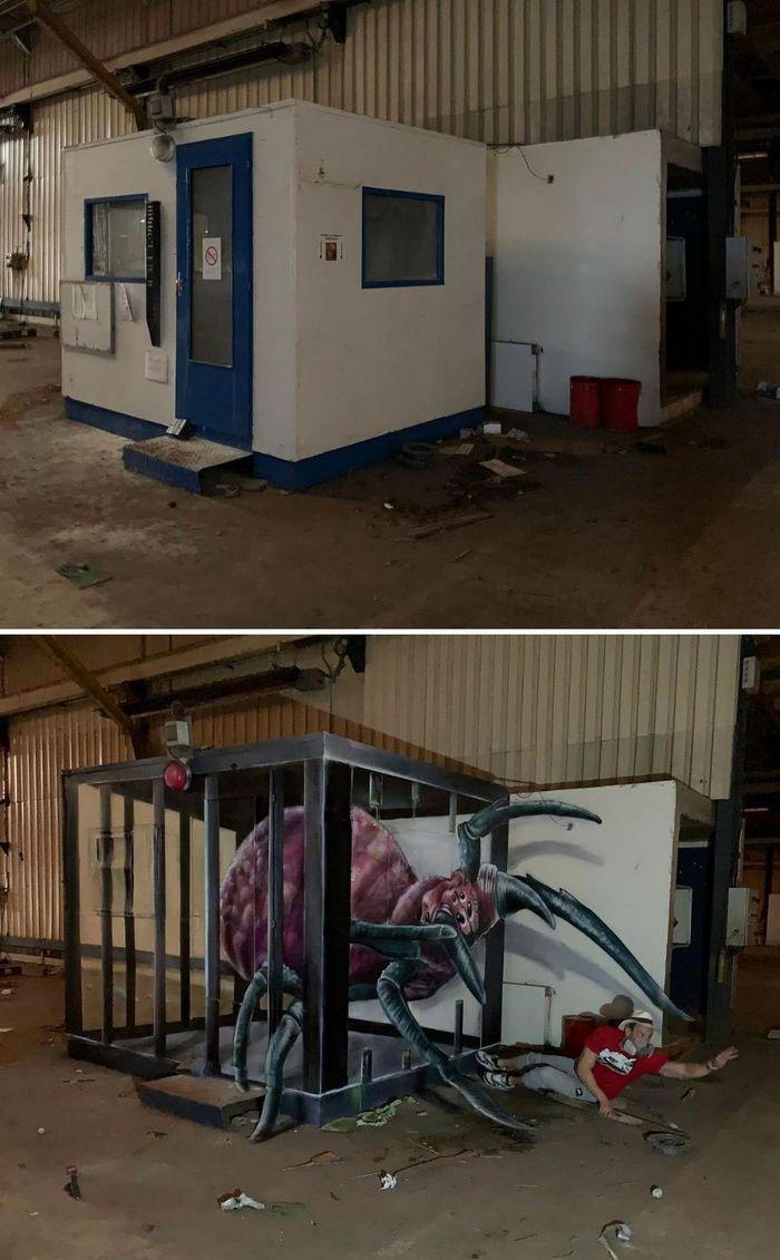 Artista de rua francês pinta graffiti de criaturas em 3D e não é para os fracos de coração (43 fotos) 14