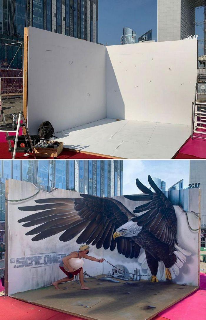 Artista de rua francês pinta graffiti de criaturas em 3D e não é para os fracos de coração (43 fotos) 16