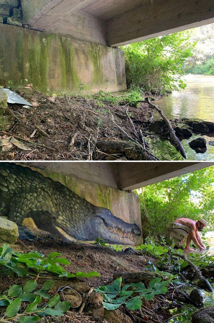 Artista de rua francês pinta graffiti de criaturas em 3D e não é para os fracos de coração (43 fotos) 17