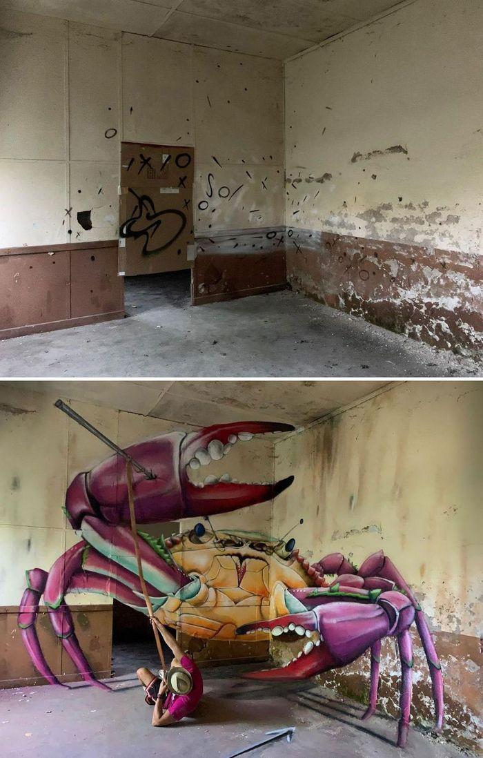 Artista de rua francês pinta graffiti de criaturas em 3D e não é para os fracos de coração (43 fotos) 19