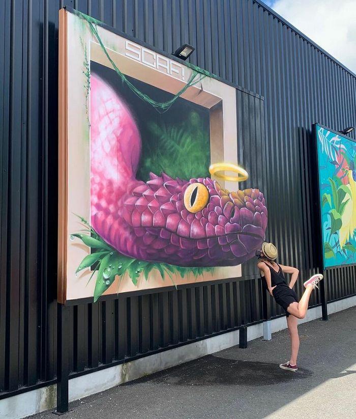 Artista de rua francês pinta graffiti de criaturas em 3D e não é para os fracos de coração (43 fotos) 21