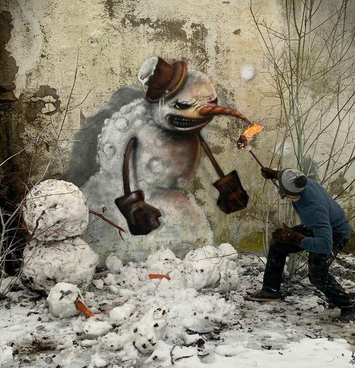 Artista de rua francês pinta graffiti de criaturas em 3D e não é para os fracos de coração (43 fotos) 27