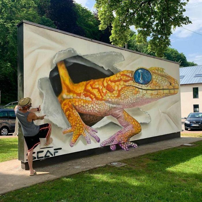 Artista de rua francês pinta graffiti de criaturas em 3D e não é para os fracos de coração (43 fotos) 33