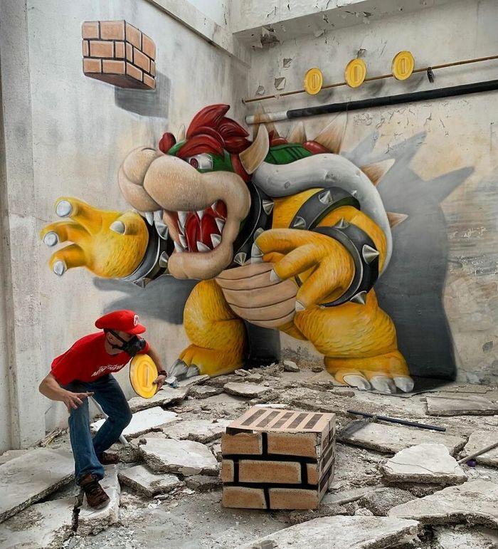 Artista de rua francês pinta graffiti de criaturas em 3D e não é para os fracos de coração (43 fotos) 35
