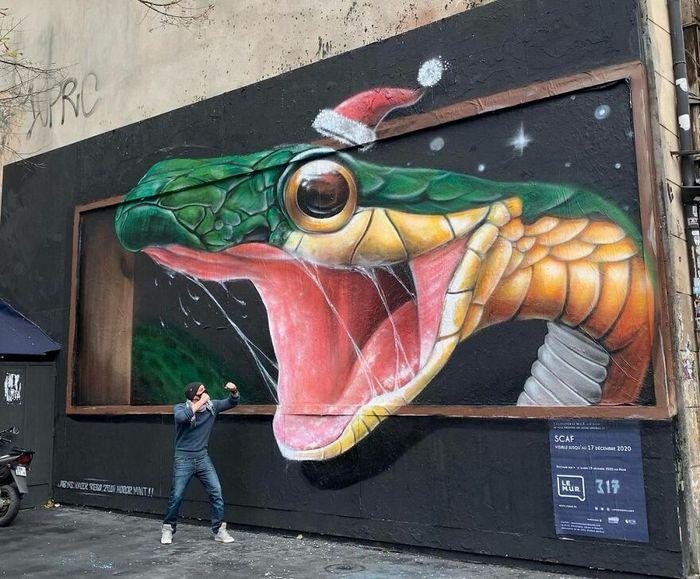 Artista de rua francês pinta graffiti de criaturas em 3D e não é para os fracos de coração (43 fotos) 36