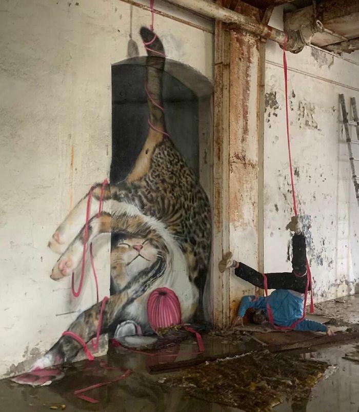 Artista de rua francês pinta graffiti de criaturas em 3D e não é para os fracos de coração (43 fotos) 40