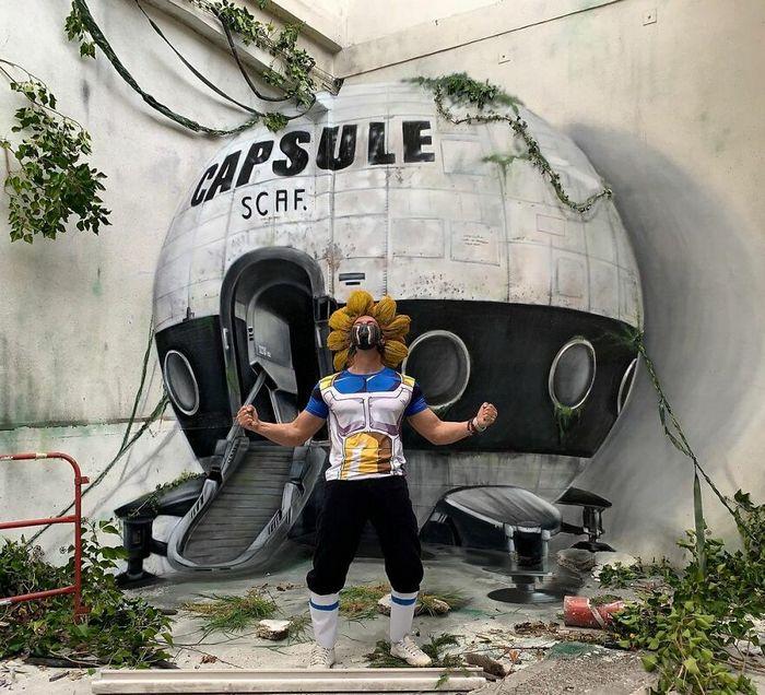 Artista de rua francês pinta graffiti de criaturas em 3D e não é para os fracos de coração (43 fotos) 41