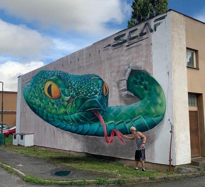 Artista de rua francês pinta graffiti de criaturas em 3D e não é para os fracos de coração (43 fotos) 42