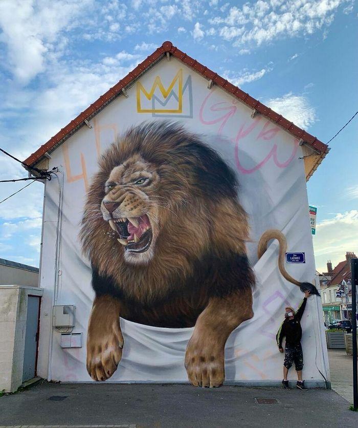 Artista de rua francês pinta graffiti de criaturas em 3D e não é para os fracos de coração (43 fotos) 43