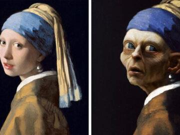 Esses artistas combinam pinturas clássicas com cultura pop de Halloween (42 fotos) 2