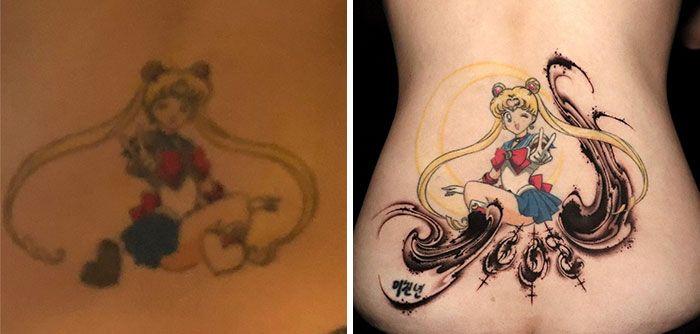 59 exemplos surpreendentes de mestres de tinta dando uma reforma incrível em tatuagens velha e feia 9