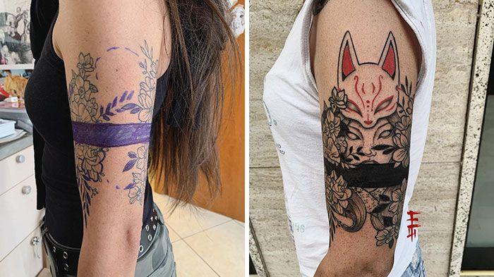 59 exemplos surpreendentes de mestres de tinta dando uma reforma incrível em tatuagens velha e feia 12