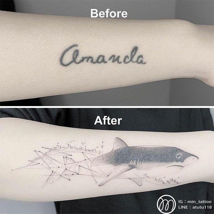 59 exemplos surpreendentes de mestres de tinta dando uma reforma incrível em tatuagens velha e feia 13
