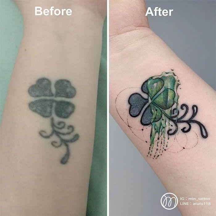 59 exemplos surpreendentes de mestres de tinta dando uma reforma incrível em tatuagens velha e feia 17