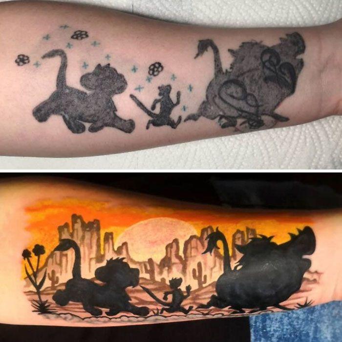 59 exemplos surpreendentes de mestres de tinta dando uma reforma incrível em tatuagens velha e feia 18