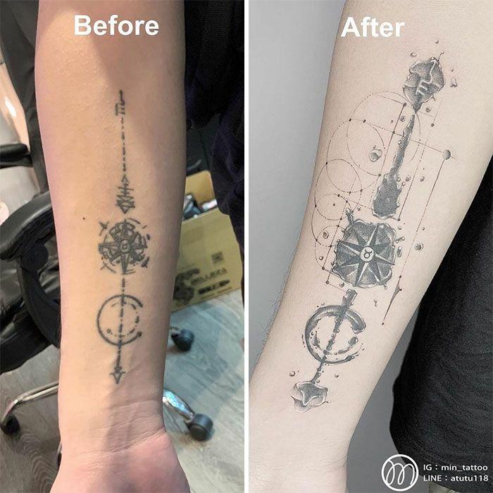 59 exemplos surpreendentes de mestres de tinta dando uma reforma incrível em tatuagens velha e feia 19