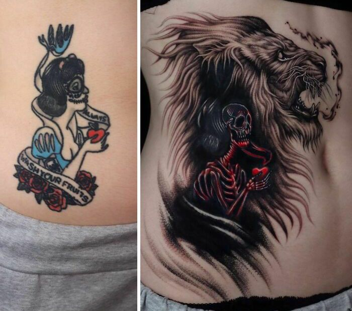 59 exemplos surpreendentes de mestres de tinta dando uma reforma incrível em tatuagens velha e feia 20