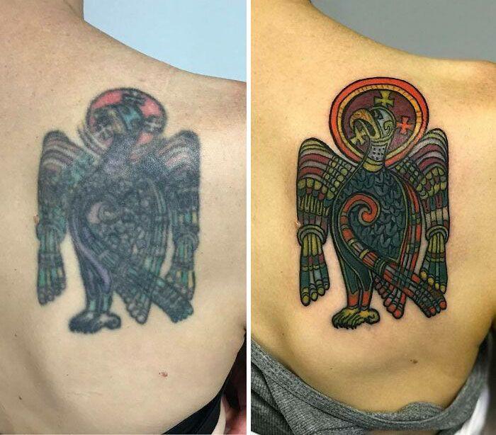 59 exemplos surpreendentes de mestres de tinta dando uma reforma incrível em tatuagens velha e feia 22