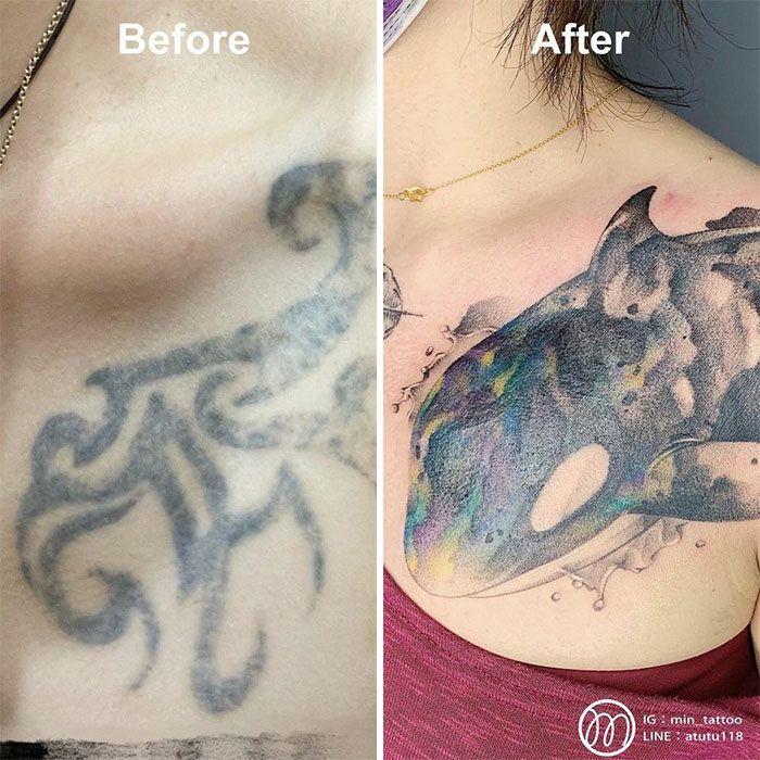 59 exemplos surpreendentes de mestres de tinta dando uma reforma incrível em tatuagens velha e feia 27