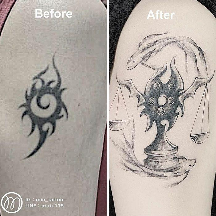 59 exemplos surpreendentes de mestres de tinta dando uma reforma incrível em tatuagens velha e feia 29