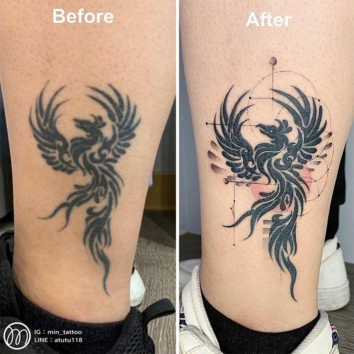 59 exemplos surpreendentes de mestres de tinta dando uma reforma incrível em tatuagens velha e feia 31