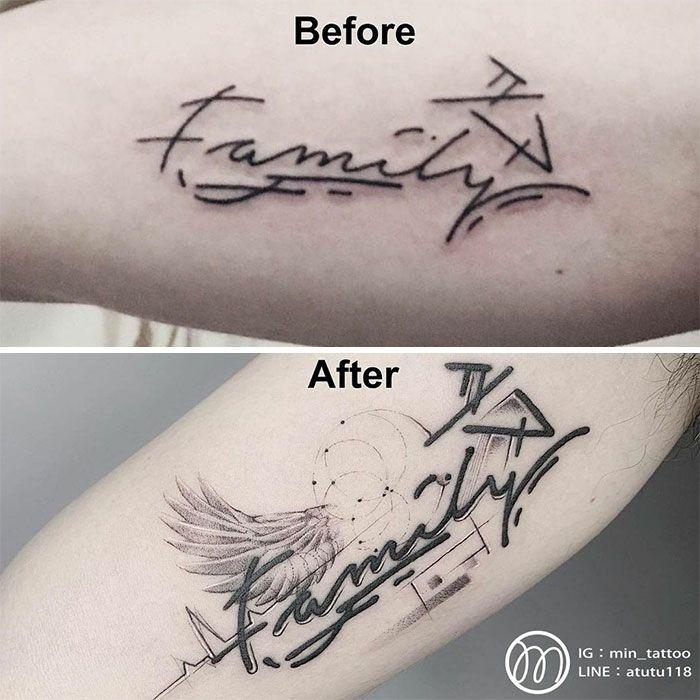 59 exemplos surpreendentes de mestres de tinta dando uma reforma incrível em tatuagens velha e feia 33