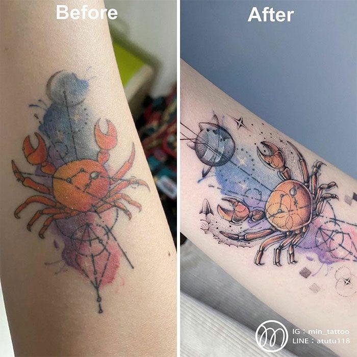 59 exemplos surpreendentes de mestres de tinta dando uma reforma incrível em tatuagens velha e feia 35