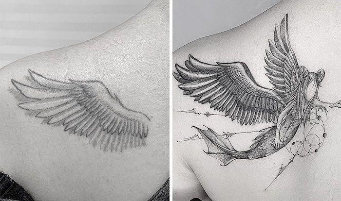59 exemplos surpreendentes de mestres de tinta dando uma reforma incrível em tatuagens velha e feia 44