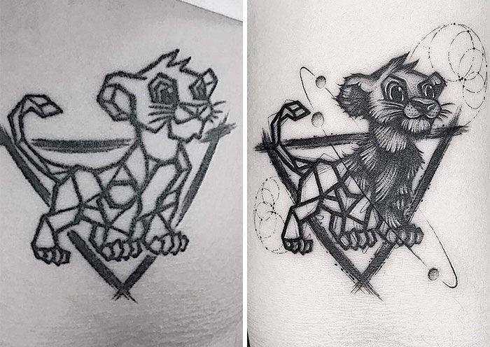59 exemplos surpreendentes de mestres de tinta dando uma reforma incrível em tatuagens velha e feia 45