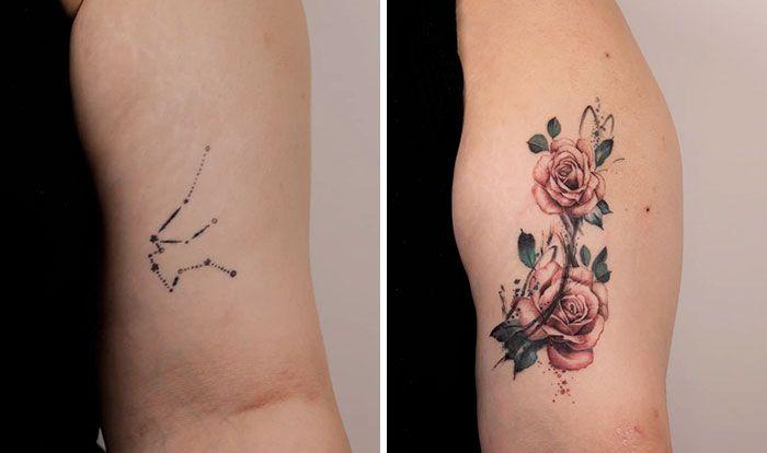 59 exemplos surpreendentes de mestres de tinta dando uma reforma incrível em tatuagens velha e feia 47