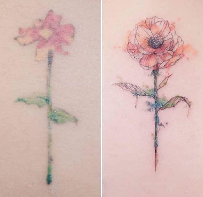 59 exemplos surpreendentes de mestres de tinta dando uma reforma incrível em tatuagens velha e feia 49