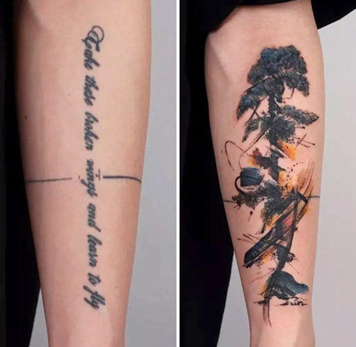 59 exemplos surpreendentes de mestres de tinta dando uma reforma incrível em tatuagens velha e feia 51
