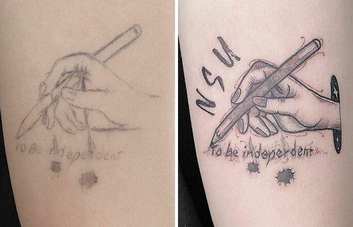 59 exemplos surpreendentes de mestres de tinta dando uma reforma incrível em tatuagens velha e feia 53