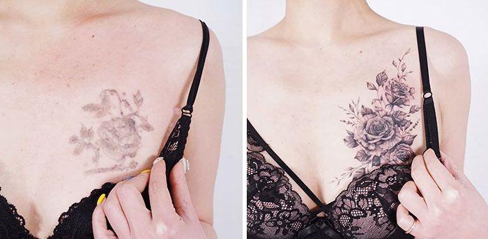 59 exemplos surpreendentes de mestres de tinta dando uma reforma incrível em tatuagens velha e feia 59