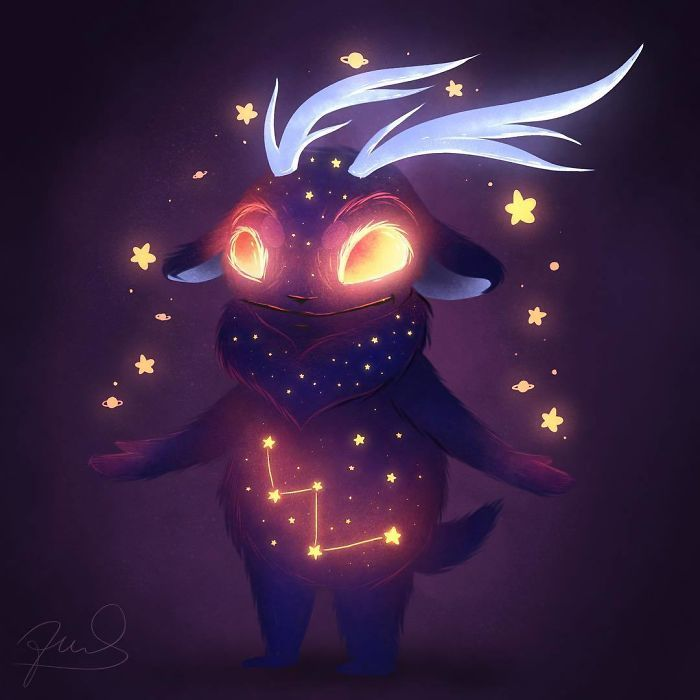 32 monstros celestiais brilhantes e fofos 13